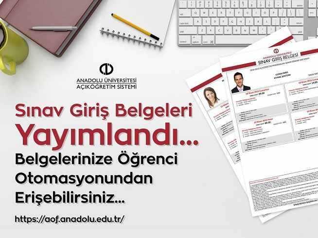 2019 Yaz Okulu Sınav Giriş Belgeleri Yayımlandı