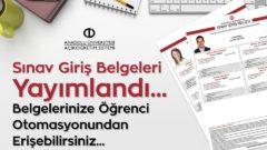 2018 Bahar Dönemi Arasınav Sınav Giriş Belgeleri Yayımlandı