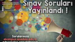 2018-2019 Bahar Dönemi Final Sınavı Soru ve Cevapları Yayımlandı