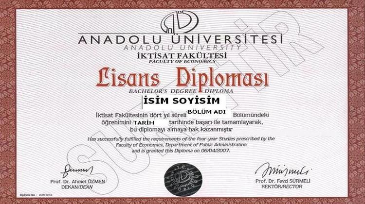 Açıköğretim İktisat Diploması