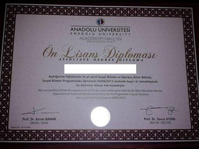 Açıköğretim Sosyal Bilimler Diploması
