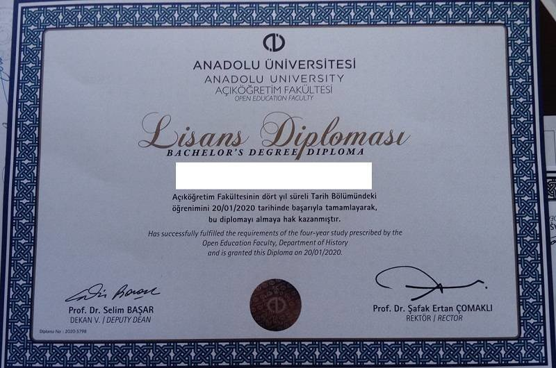 acikogretim diplomalari diploma