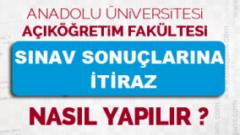 Açıköğretim 2018-2019 Bahar Dönemi Final Sınavlarına İtiraz Etme