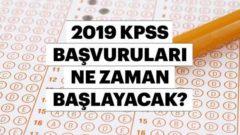 2019 KPSS Lisans Başvuruları Başlıyor