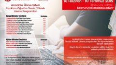 2019 Açıköğretim Yüksek Lisans Başvuruları