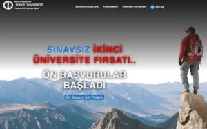 2019 - 2020 İkinci Üniversite Ön Başvuruları