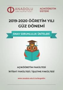 Açıköğretim 2019 - 2020 Güz Dönemi Arasınav Sorumluluk Üniteleri