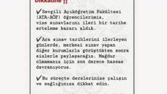 Atatürk Üniversitesi Bahar Dönemi Arasınavı Ertelendi
