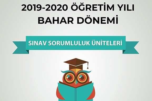 Açıköğretim 2019 - 2020 Bahar Dönemi Arasınav Sorumluluk Üniteleri