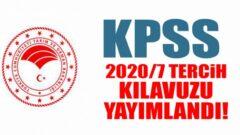Tarım ve Orman Bakanlığı KPSS 2020/7 Tercih Kılavuzu Yayımlandı