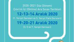 Açıköğretim 2020 – 2021 Güz Dönemi Online Arasınav Duyurusu