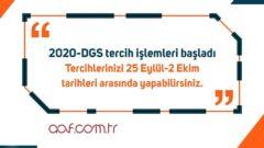 2020 Açıköğretim DGS Kontenjanları
