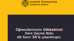 Atatürk Üniversitesi Geçme Notunu 35'e Çıkardı
