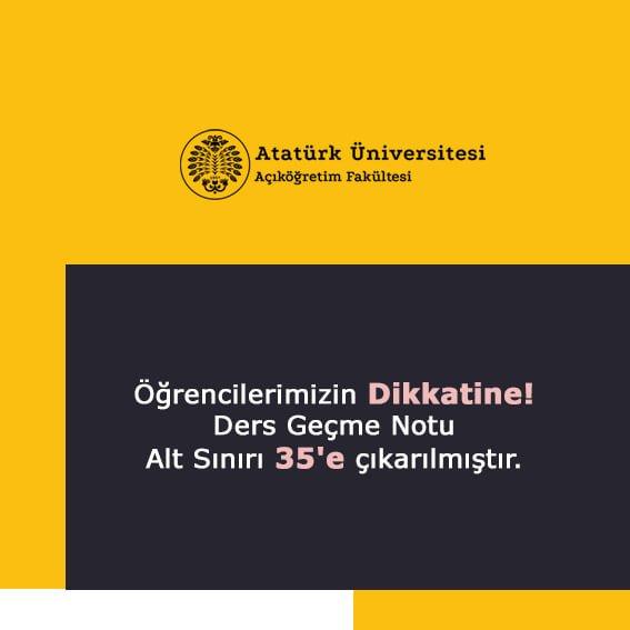 Atatürk Üniversitesi Geçme Notu