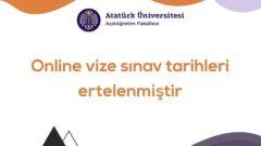 Ata Aof Online Vize Sınavları Ertelendi