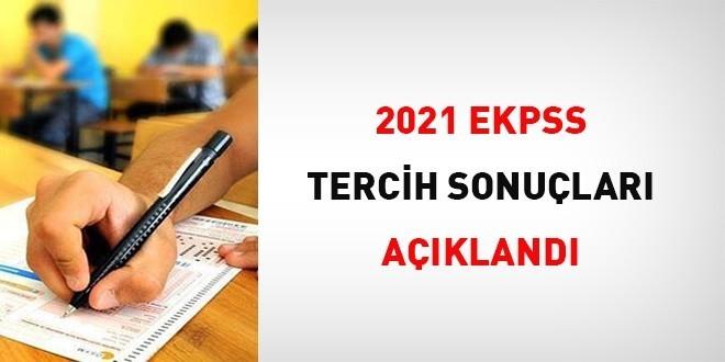 EKPSS 2021 Tercih Sonuçları Açıklandı