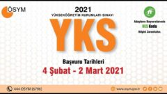 2021 YKS Başvuruları Başladı