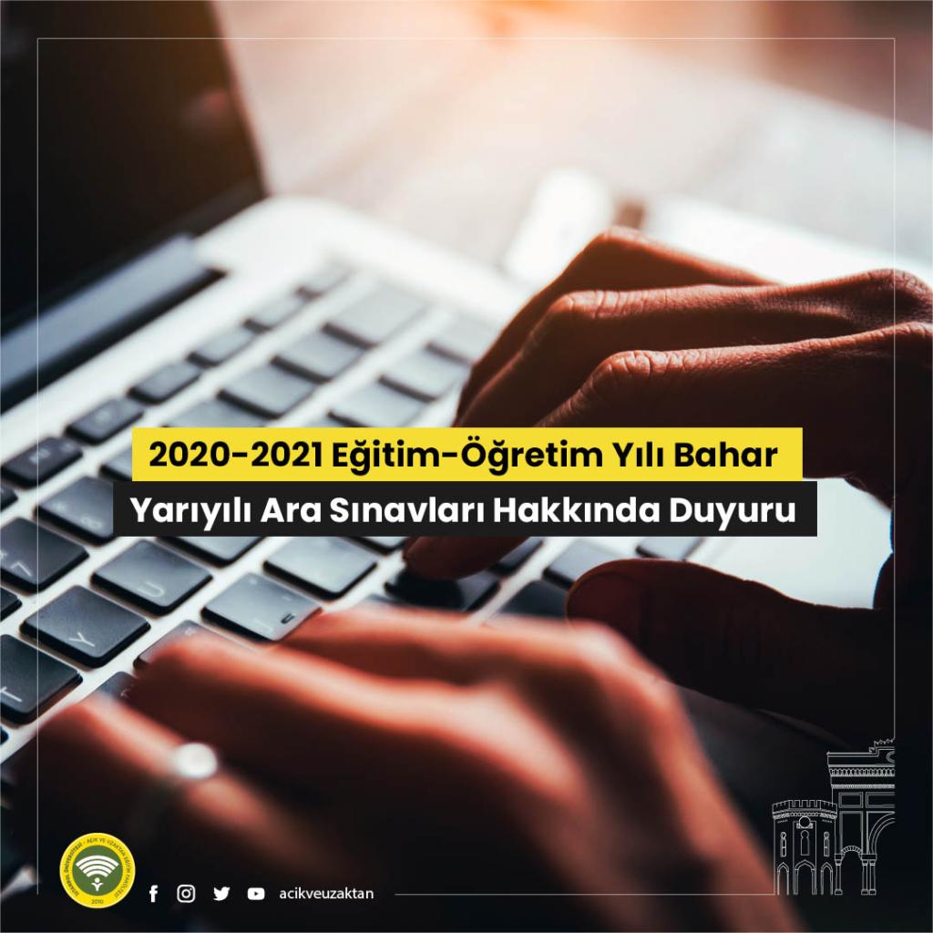 İstanbul Üniversitesi Açıköğretim Arasınavları Online Yapılacak