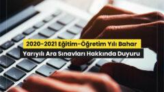 Auzef 2020 – 2021 Bahar Dönemi Arasınavları Online Yapılacak