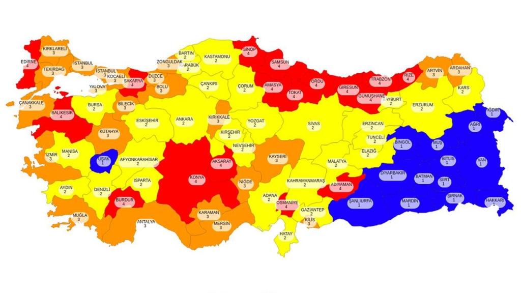 Türkiye Koronavirüs Risk Haritası