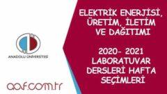 2021 Bahar Dönemi Laboratuvar Dersleri Duyurusu