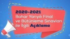 Ata Aof 2020 – 2021 Final ve Bütünleme Sınavları Online Yapılacak