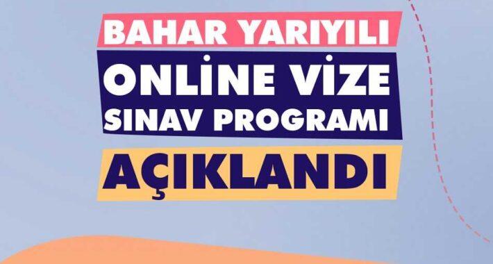 Ata Aof 2021 Bahar Dönemi Online Arasınav Programı