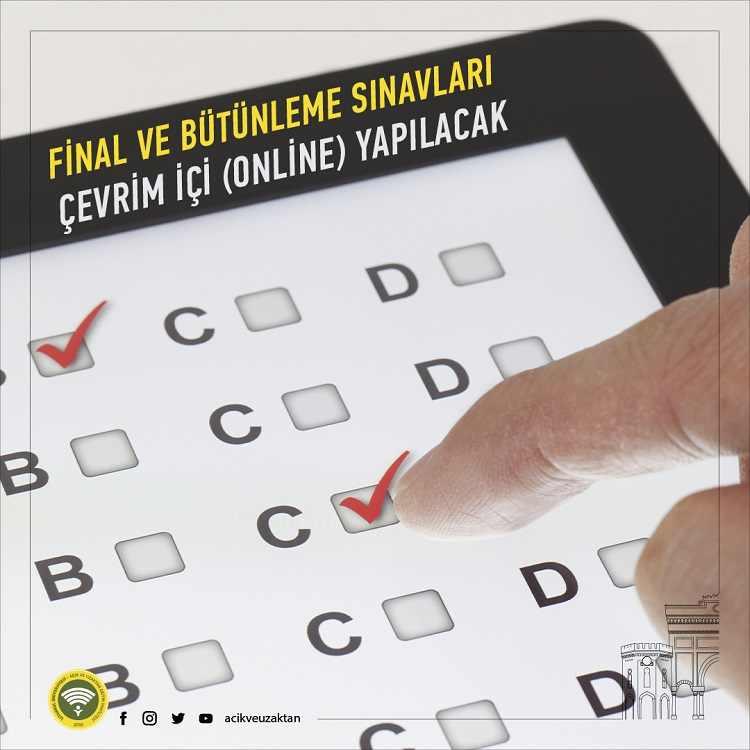 İstanbul AUZEF 2020 - 2021 Final ve Bütünleme Sınavları Çevrimiçi Olacak