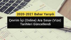 AUZEF 2021 Bahar Dönemi Arasınav Tarihleri Değişti