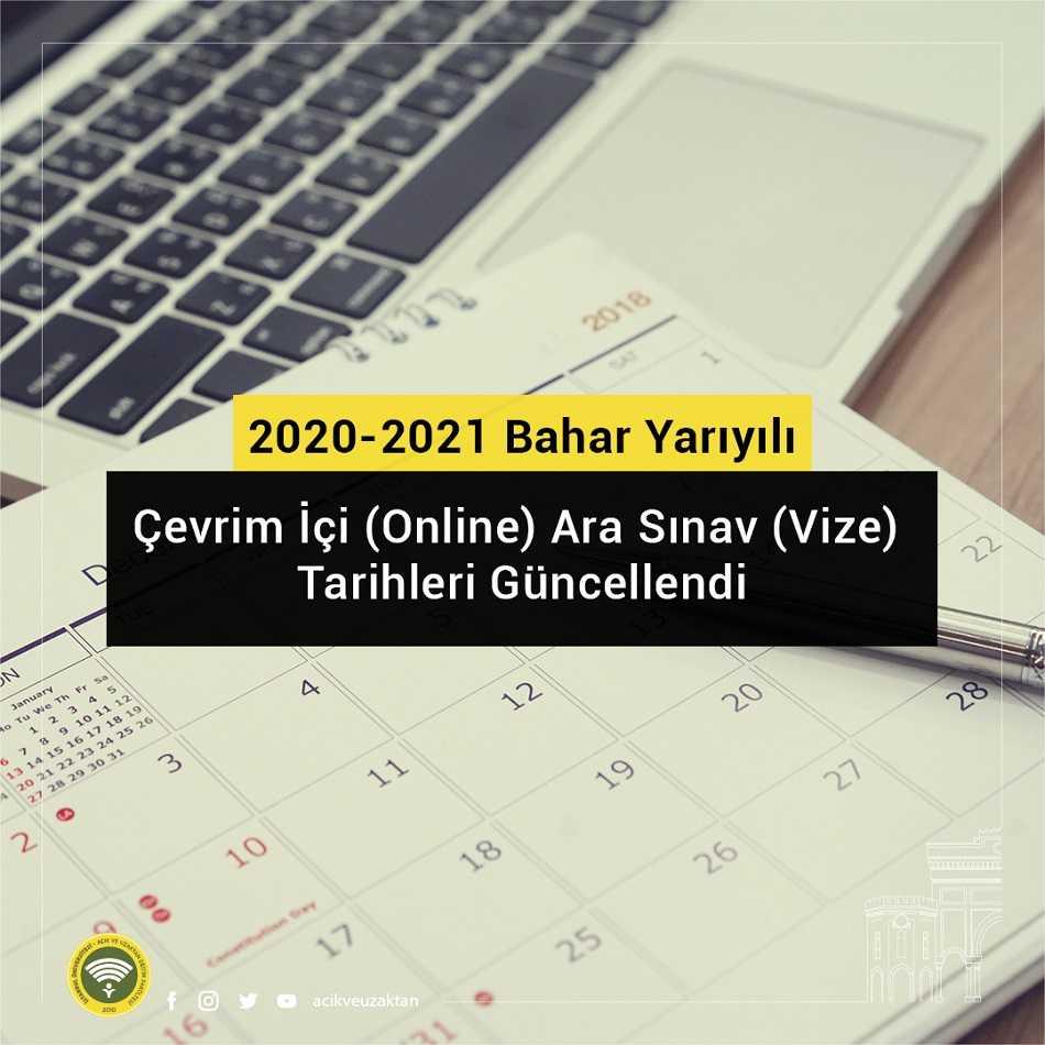 Auzef 2021 Bahar Dönemi Online Sınav Tarihleri Güncellendi