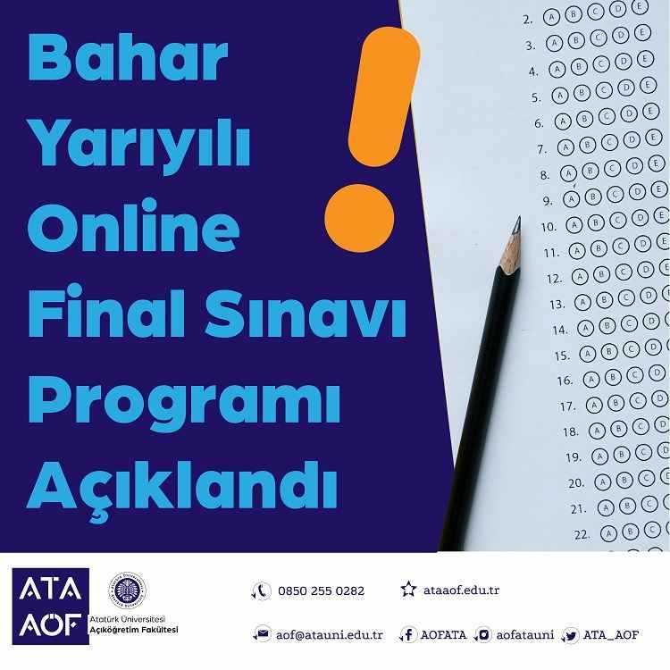 Ata Aof 2021 Bahar Dönemi Final Programı