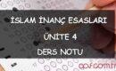 İslam İnanç Esasları – Ünite 4: Melek İnancı Ders Notu