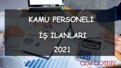 2021 Kamu Personel Alımı (Açılan Kadrolar)