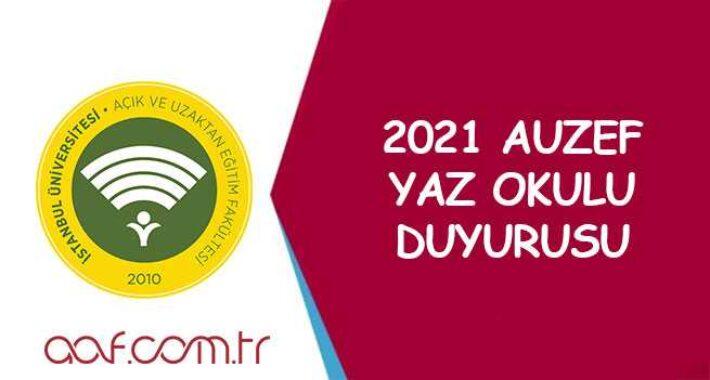 2021 AUZEF Yaz Okulu Duyurusu