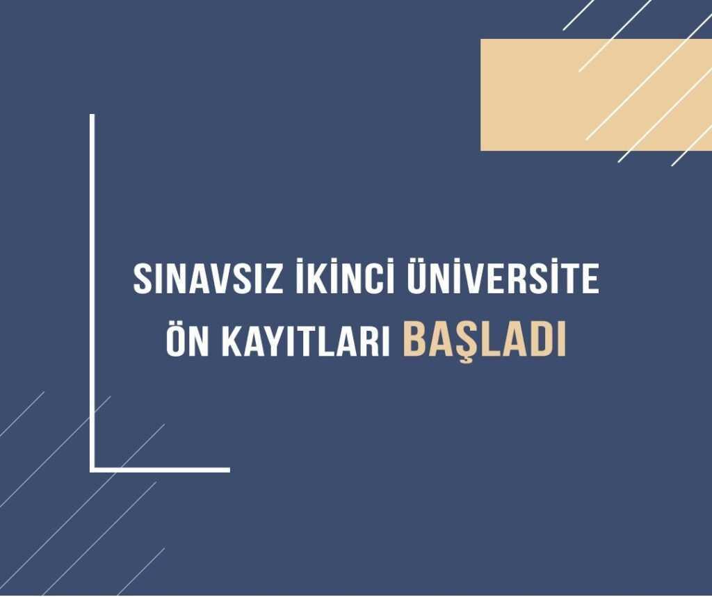 Ata Aof İkinci Üniversite Ön Kayıtları Başladı (2021)
