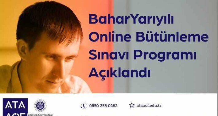 2021 Ata Aof Online Bütünleme Sınavı Programı