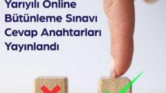 2021 Ata Aof Online Bütünleme Soru ve Cevapları Yayımlandı