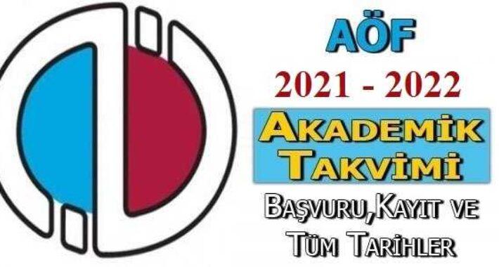 Açıköğretim Akademik Takvimi (2021 – 2022)
