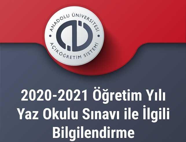 2021 Yaz Okulu Sınavı Hakkında Bilgilendirme