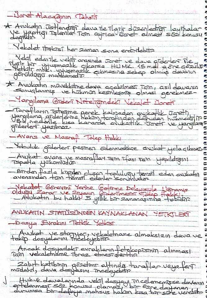 Avukatlık Hukuku - Ünite 1-2-3-4-5 Ders Notları