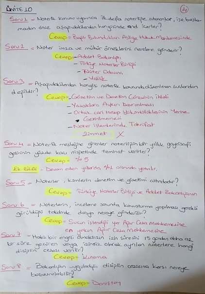 Avukatlık Ve Hukuku - Ünite 6-7-8-9-10 Ders Notları