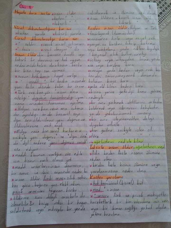 ceza hukuku unite 1 4 ders notlari acikogretim aof ders notlari acikogretim sorular