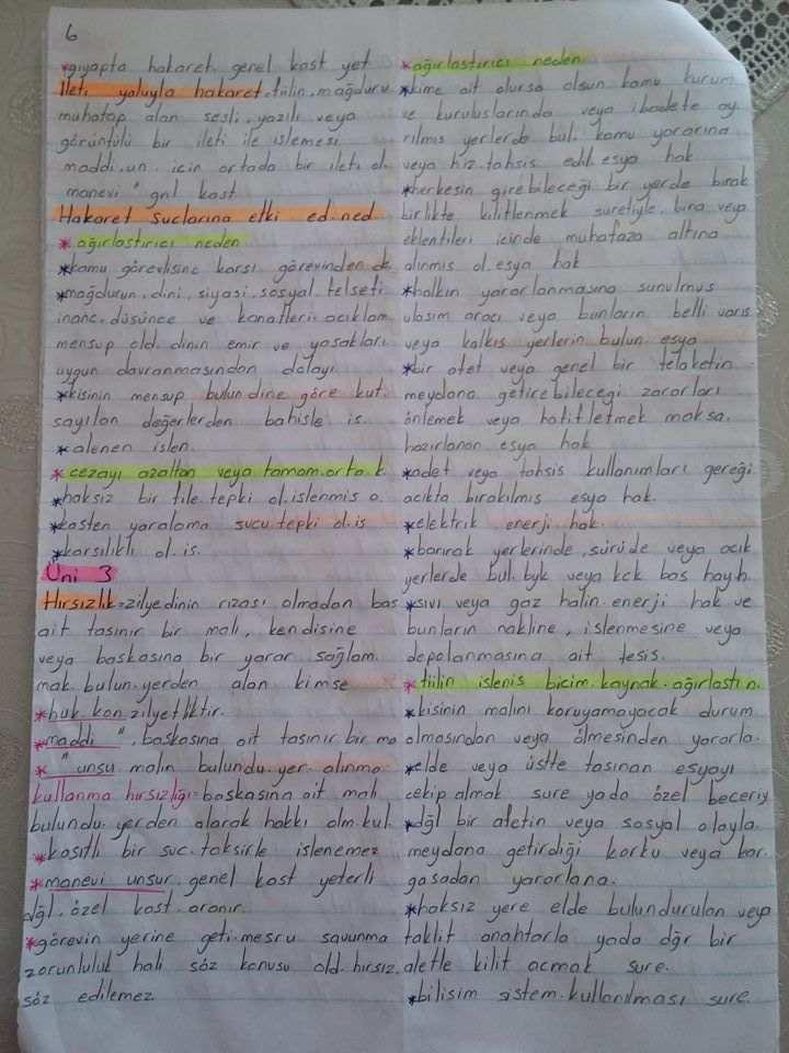 Ceza Hukuku - Ünite 1-2-3-4 Ders Notları