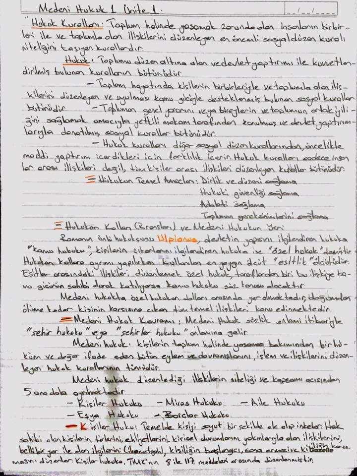 medeni hukuk unite 1 2 3 ders notlari acikogretim aof ders notlari acikogretim sorular