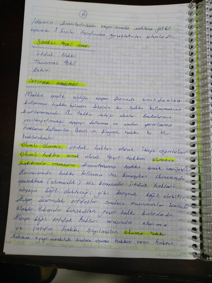 Medeni Hukuk - Ünite 2 Ders Notları