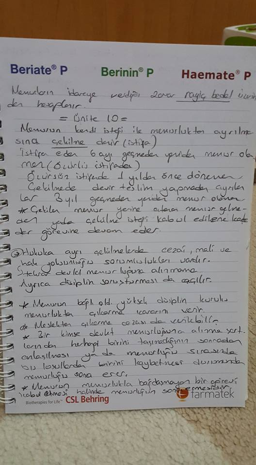 Memur Hukuku - Ünite 6-7-8 Ders Notları