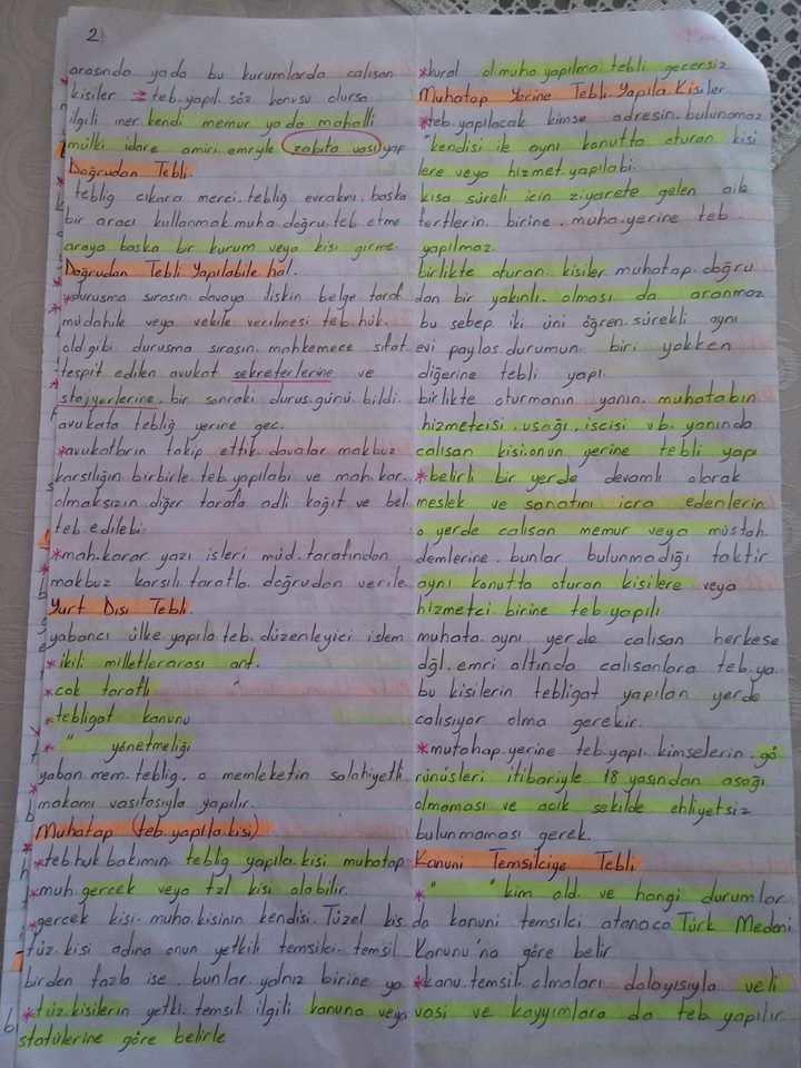 Yargı Örgütü ve Tebligat Hukuku - Ünite  1-2-3-4 Ders Notları