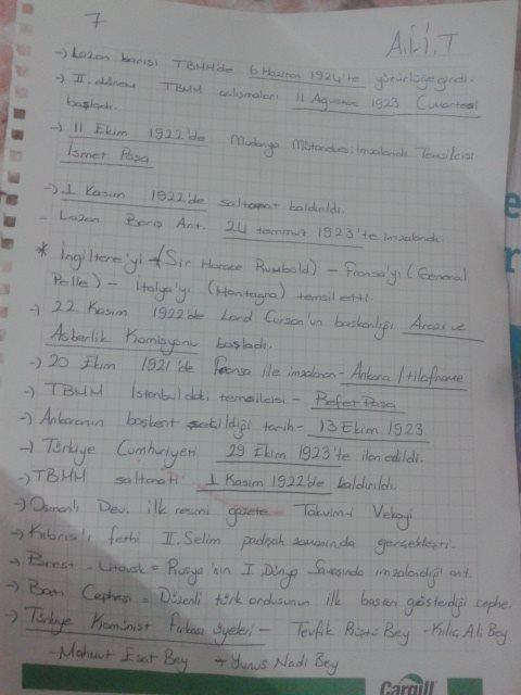 Atatürk İlkeleri ve İnkılap Tarihi - Ünite 5 Ders Notları