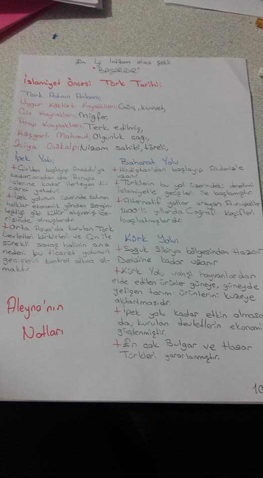 İslamiyet Öncesi Türk Tarihi Ders Notları