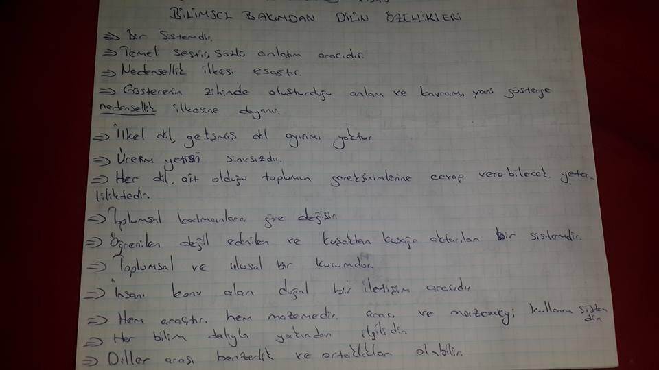 Türk Dili ve Edebiyatı 1. Ünite Ders Notları